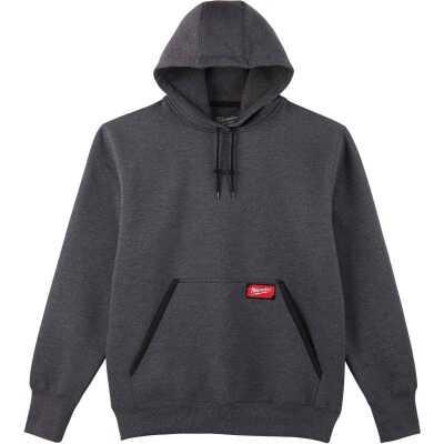 Milwaukee Medium Gray Heavy-Duty Pullover Hooded Sweatshirt