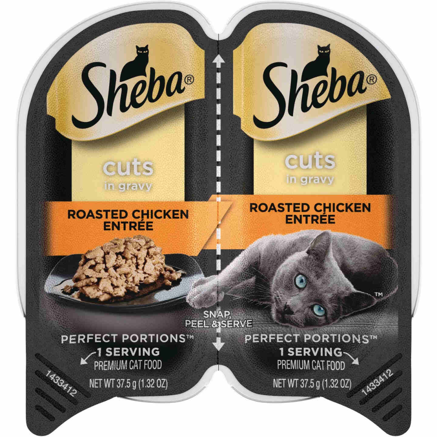 Sheba Perfect Portions Cuts in Gravy 2.6 Oz. Roasted Chicken Adult Wet Cat Food Image 1