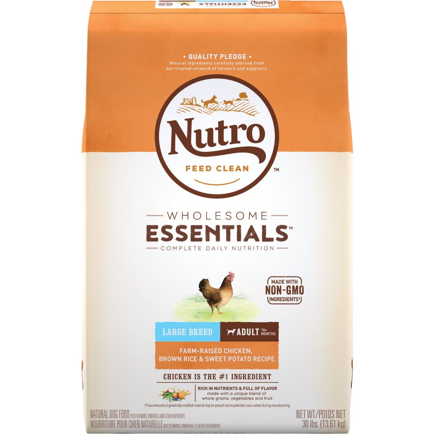 Nutro Wholesome Essentials 30 Lb. Chicken, Brown Rice, & Sweet Potato Large Breed Adult Dry Dog Food Image 1