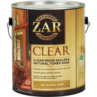 Zar 1 Gal. Deck & Siding Clear Wood Sealer & Stain