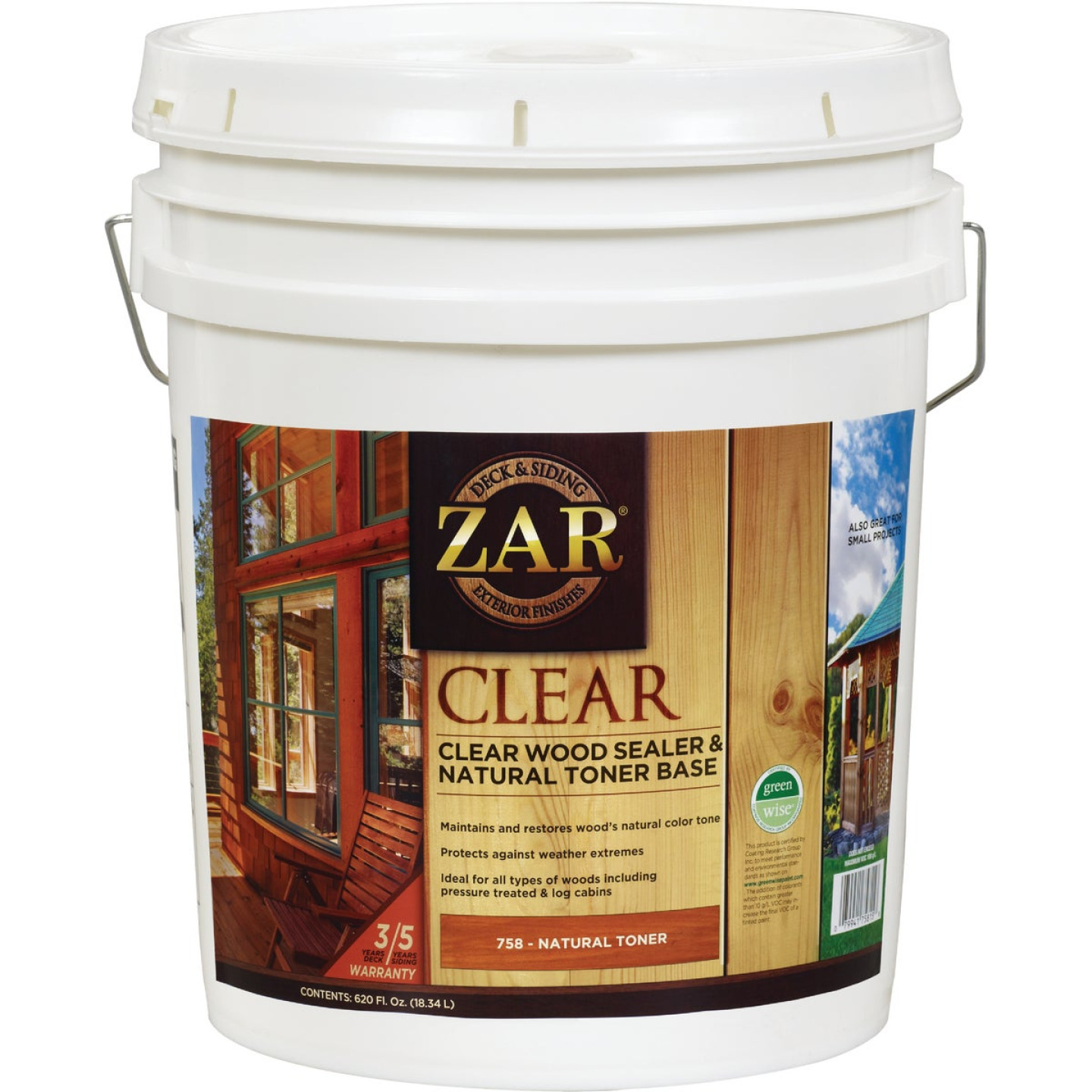 Zar 5 Gal. Deck & Siding Clear Wood Sealer & Stain Image 1