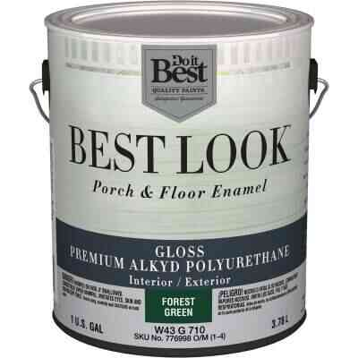 Best Look 1 Gal. Forest Green Polyurethane Gloss Porch & Floor Enamel