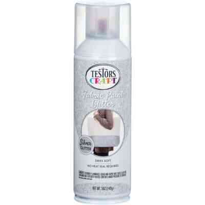 Testors Craft 5 Oz. Silver Shimmer Fabric Spray Paint