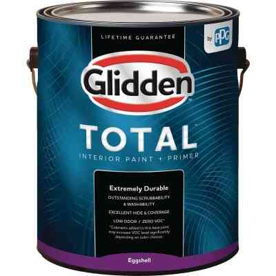 Glidden Total Interior Paint + Primer Eggshell White & Pastel Base 1 Gallon