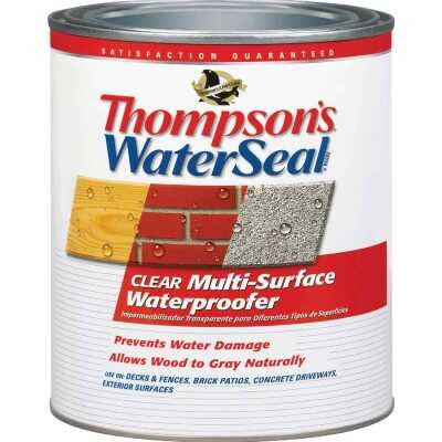 Thompsons WaterSeal Clear VOC MultiSurface Waterproofing Sealer, 1 Qt.