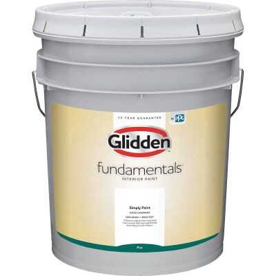 Glidden Fundamentals Interior Paint Flat White Pastel Base 5 Gallon