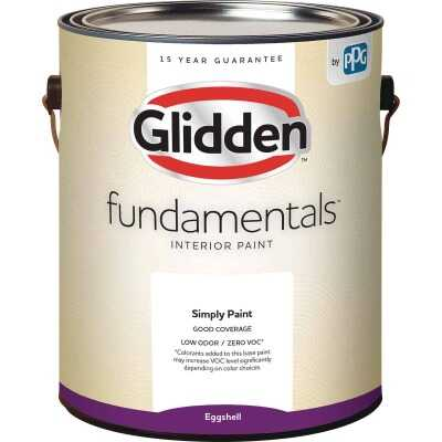 Glidden Fundamentals Interior Paint Eggshell White & Pastel Base 1 Gallon