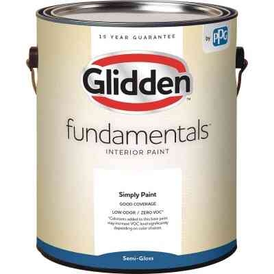 Glidden Fundamentals Interior Paint Semi-Gloss White & Pastel Base 1 Gallon