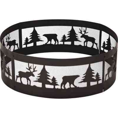 Outdoor Expressions 36 In. Antique Bronze Steel Fire Ring