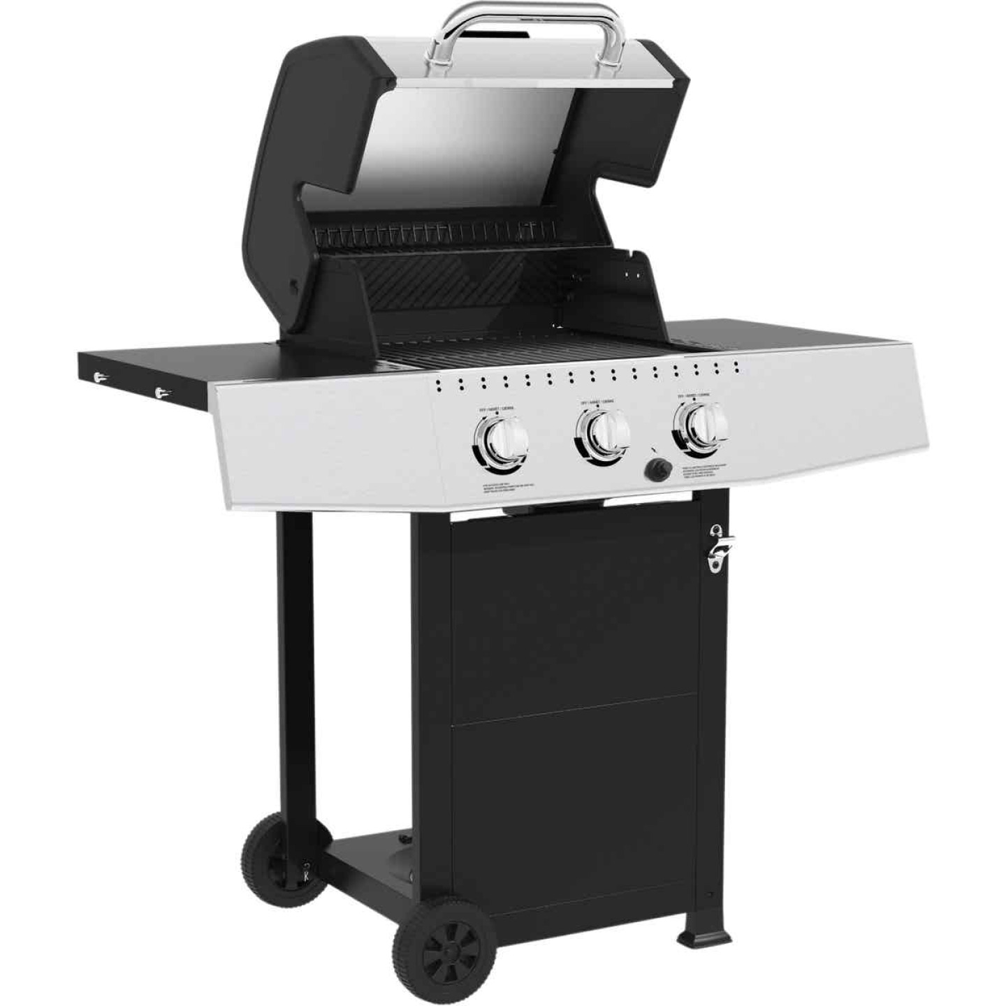 GrillPro 3-Burner Stainless Steel & Black 30,000 BTU LP Gas Grill Image 3