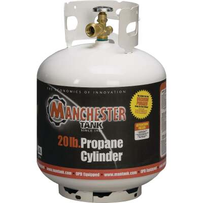 Manchester Tank and Equipment 20 Lb. Capacity Steel DOT Vertical LP Pre-Purged Propane Tank