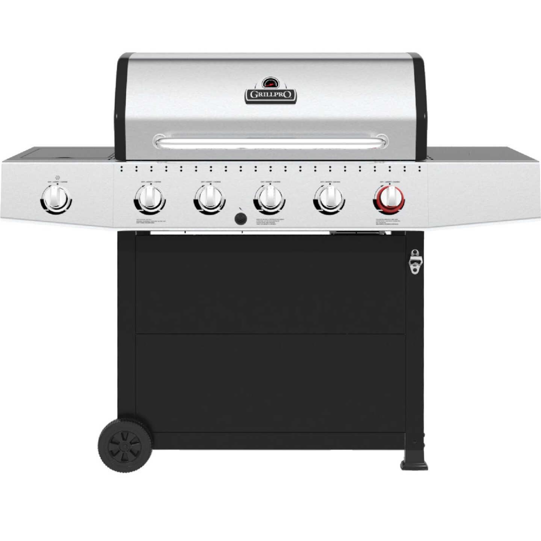 GrillPro 5-Burner Stainless Steel & Black 52,000 BTU LP Gas Grill Image 1