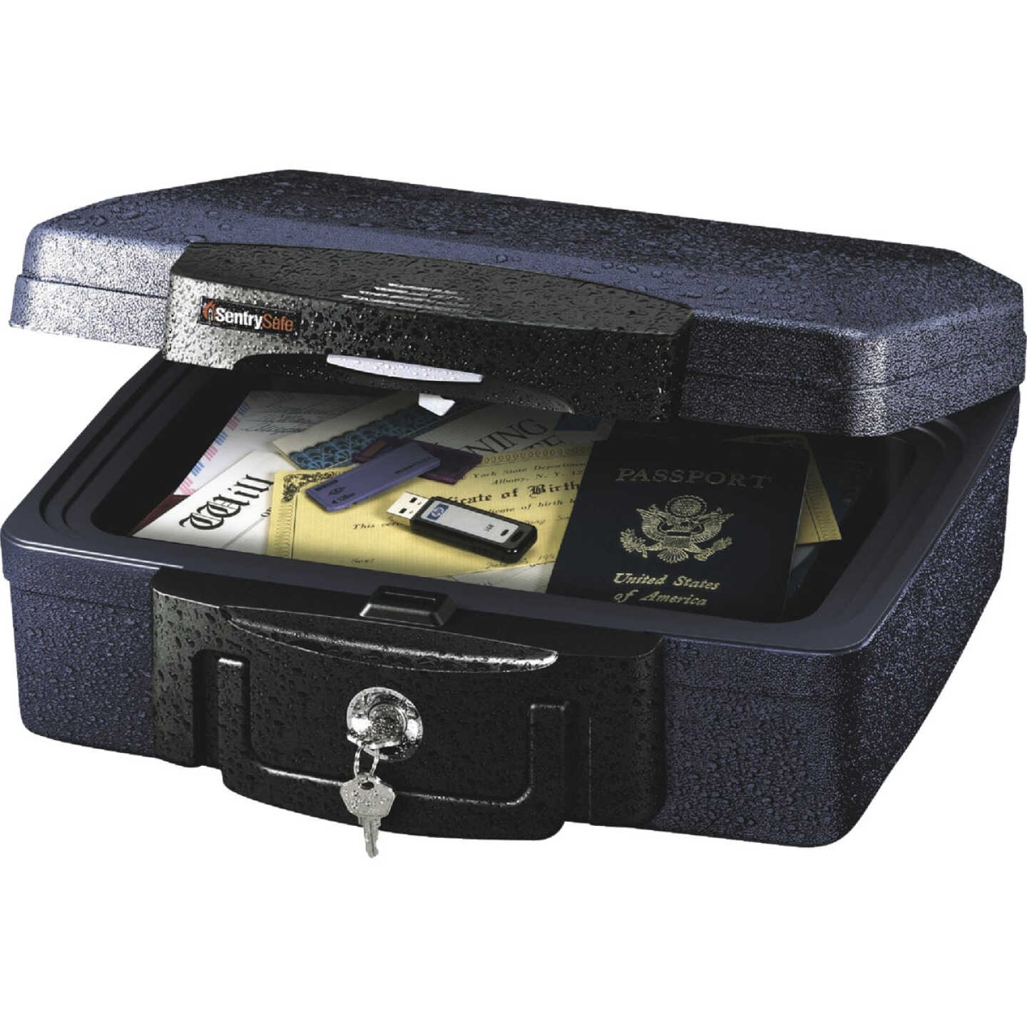Sentry Safe Key Lock Steel 13 In. Deep Security Chest Image 1